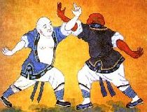 Shaolin Monks Wall Painting